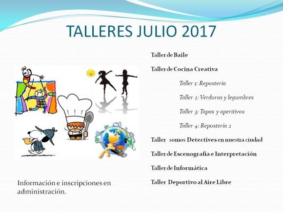 TALLERES JULIO 2017