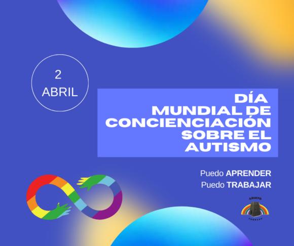 El propósito de la imagen es apoyar la campaña de Autismo España, que bajo el lema 'Puedo APRENDER. Puedo TRABAJAR', pretende concienciar sobre cómo crear las condiciones adecuadas que la educación y el empleo sean más accesibles para el colectivo.